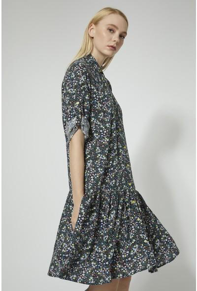 Stella Pulvis Çiçekli Siyah Elbise