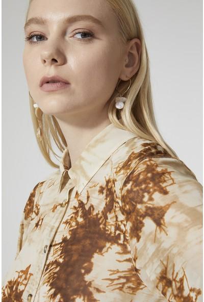 Stella Pulvis Desenli Şifon Kadın Gömlek