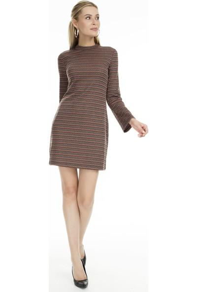 Fashion Friends Desenli Mini Elbise Kadın Elbise 9K0292