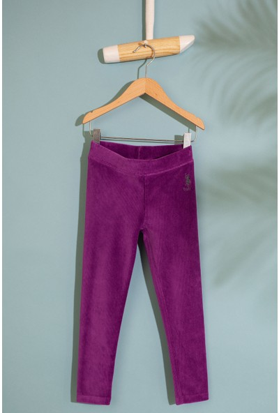 U.S. Polo Assn. Kız Çocuk Orme Pantolon 50210579-Vr037