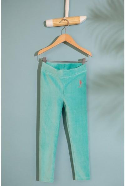 U.S. Polo Assn. Kız Çocuk Orme Pantolon 50210579-Vr090