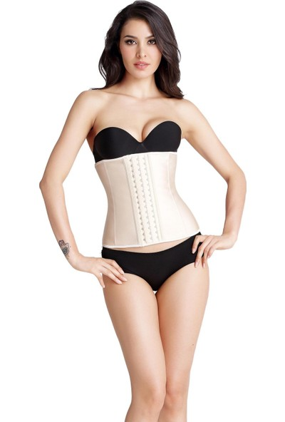 Korse City Waist Training Latex Kadın Korse Ten