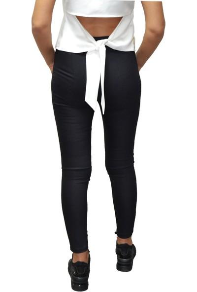 Arzu Gürbüz Kadın Siyah Slim Yüksek Bel Levi Pantolon
