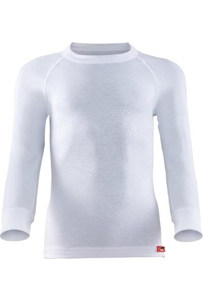 Blackspade Kız Çocuk Uzun Kol Termal 2. Seviye T-Shirt Body Beyaz 9265