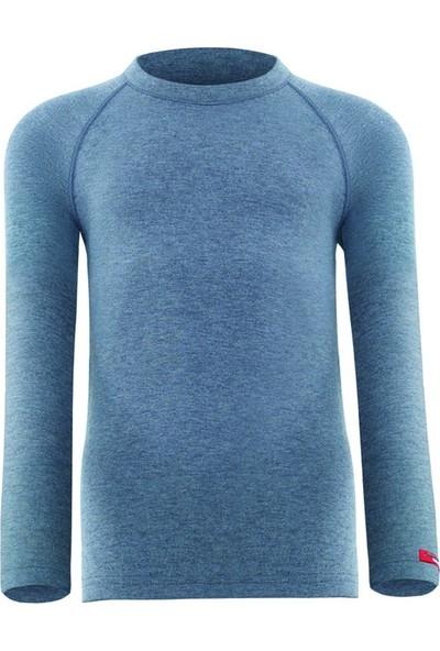 Blackspade Kız Çocuk Uzun Kol Termal 2. Seviye T-Shirt Body Gri Melanj 9265