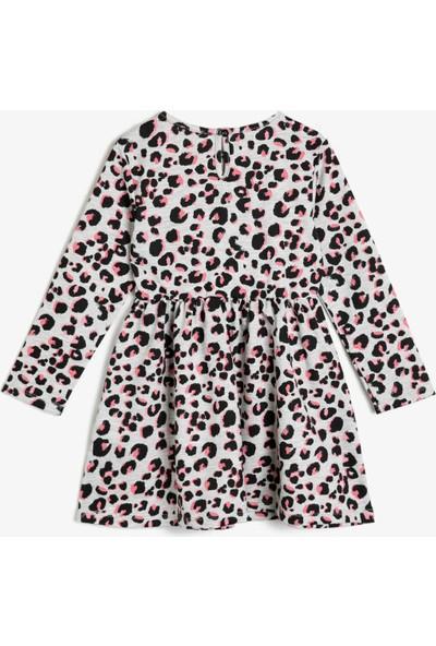 Koton Kız Çocuk Leopar Desenli Elbise