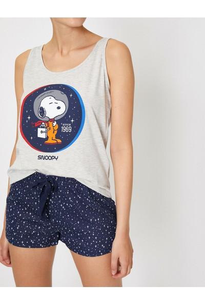 Koton Kadın Snoopy Lisansli Baskılı Pijama Takımı