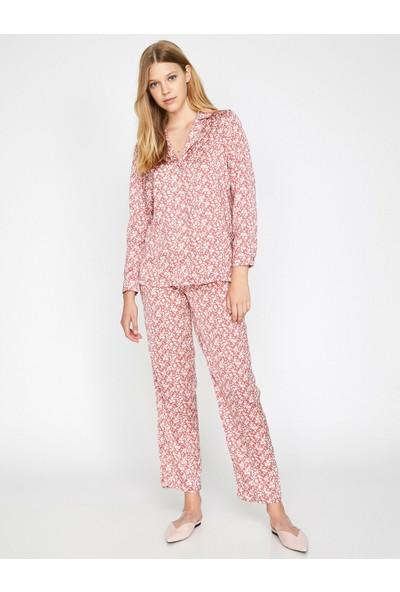 Koton Kadın Çiçekli Pijama Üstü