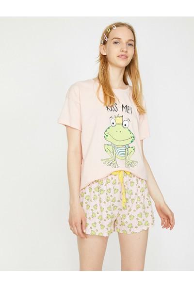 Koton Kadın Baskılı Pijama Takımı