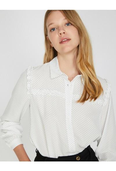 Koton Kadın Puantiyeli Gömlek