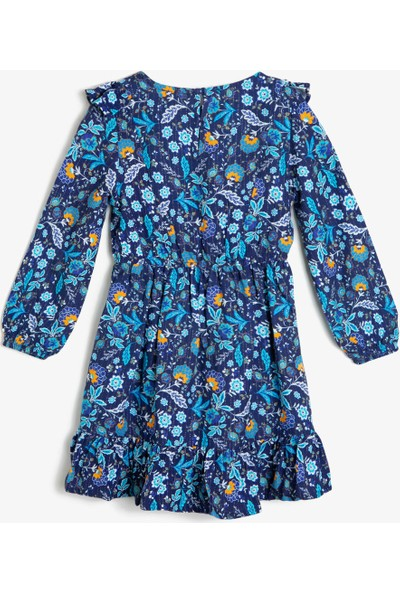Koton Kız Çocuk Desenli Elbise