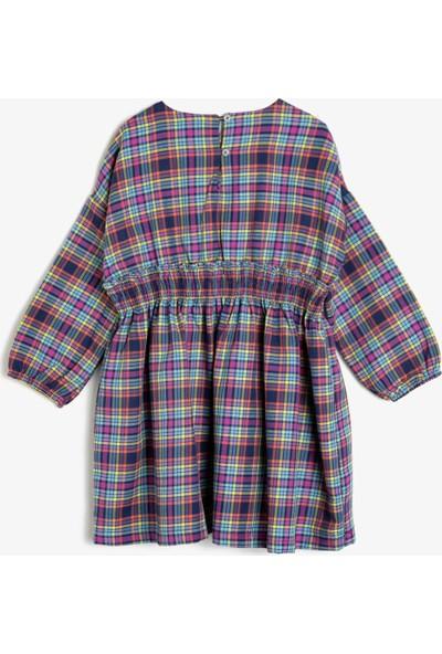 Koton Kız Çocuk Kareli Elbise