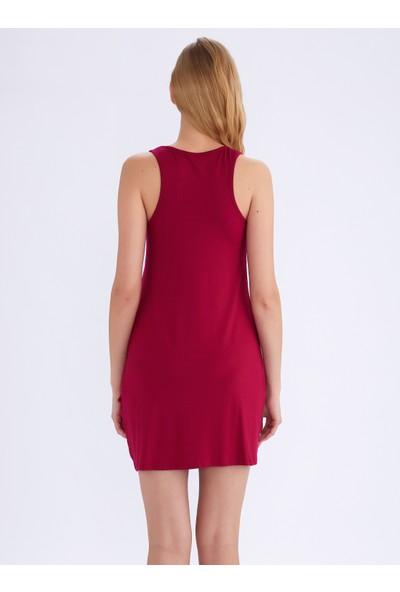 Ayyıldız 59430 Fuşya Penye Elbise