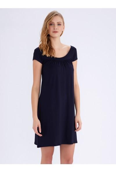 Ayyıldız 59333 Lacivert Penye Elbise