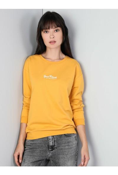 Colin's Sarı Kadın Sweatshirt