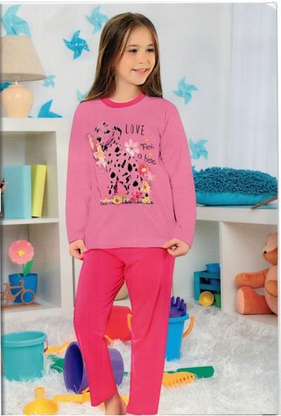 Elit %100 Pamuk Kız Çocuk Mevsimlik Eşofman Pijama Takımı K3100