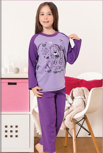 Elit %100 Pamuk Kız Çocuk Mevsimlik Eşofman Pijama Takımı K3096