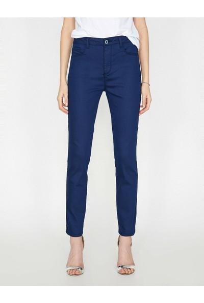 Koton Kadın Biye Detaylı Pantolon