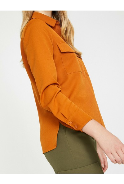 Koton Kadın Cep Detaylı Bluz