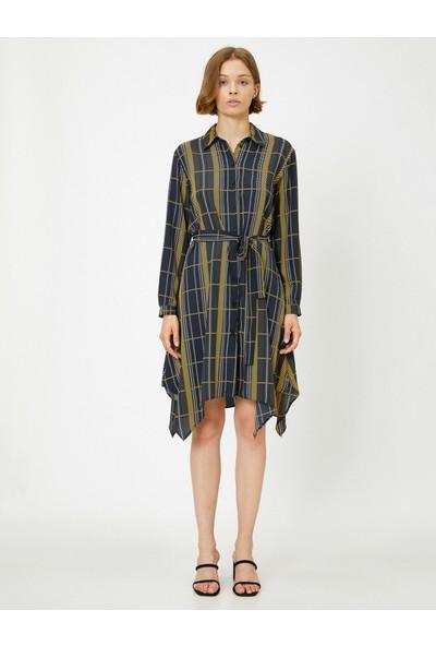 Koton Kadın Düğme Detaylı Elbise