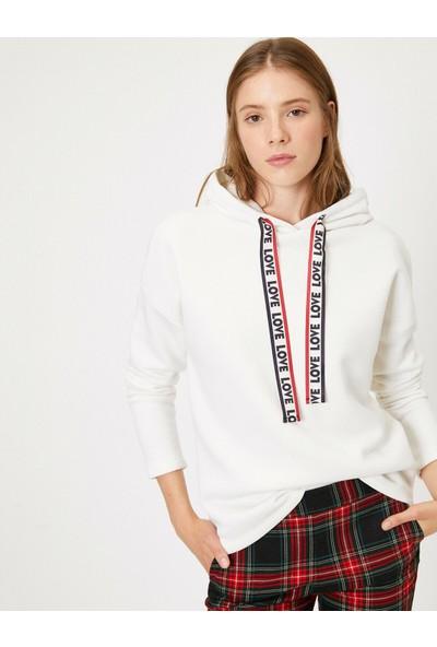 Koton Kadın Kapşonlu Sweatshirt