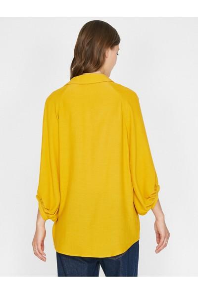 Koton Kadın Klasik Yaka Bluz