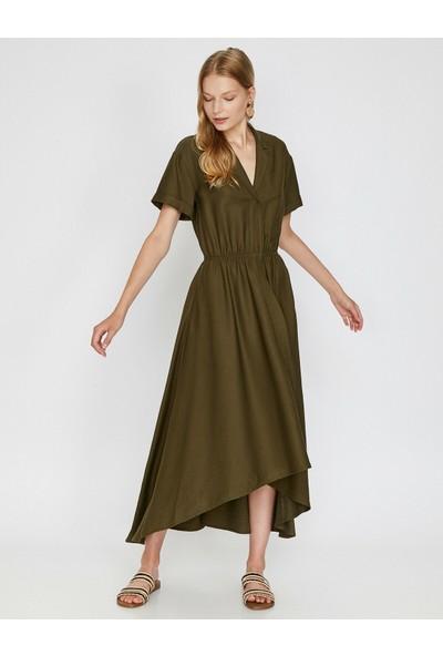 Koton Kadın Klasik Yaka Elbise