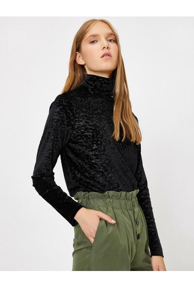 Koton Kadın Leopar Desenli Sweatshirt