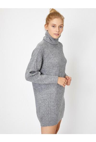 Koton Kadın Örgülü Elbise