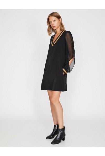 Koton Kadın Sim Detaylı Elbise