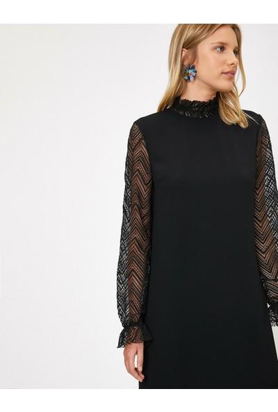 Koton Kadın Yaka Detaylı Elbise