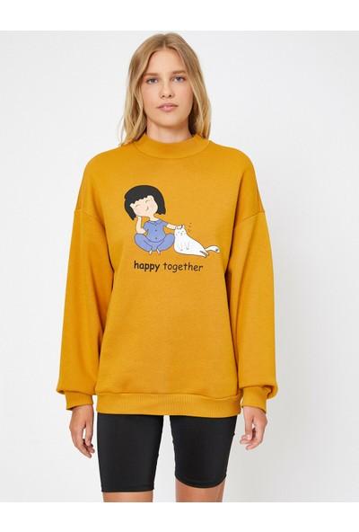 Koton Kadın Yazılı Baskılı Sweatshirt
