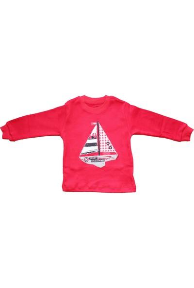Biricik's Yelkenli Ekoseli 2li Erkek Çocuk Pamuk Pijama Takım-Kırmızı