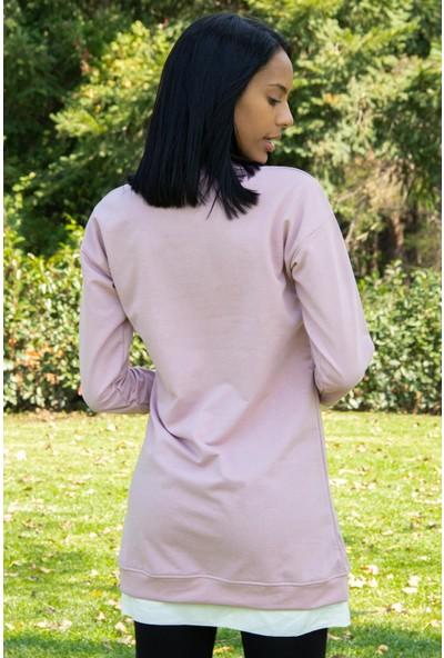 Morpile Kadın Çift Renkli Tunik