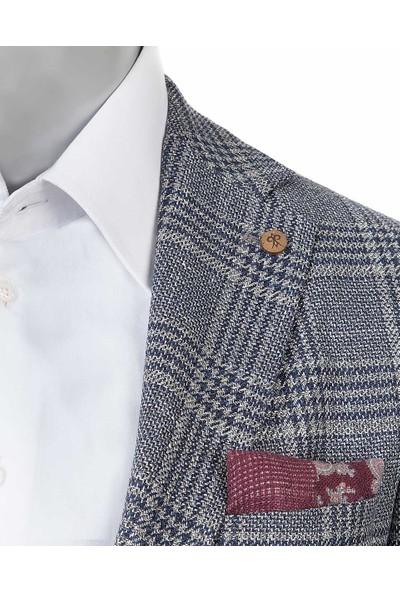 Damat Regular Fit Lacivert Kumaş Ceket