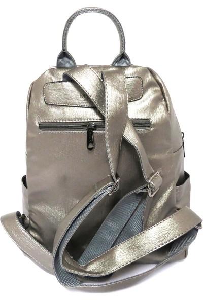 Brs Bags Yerli Yıkama Sırt Çantası Gümüş