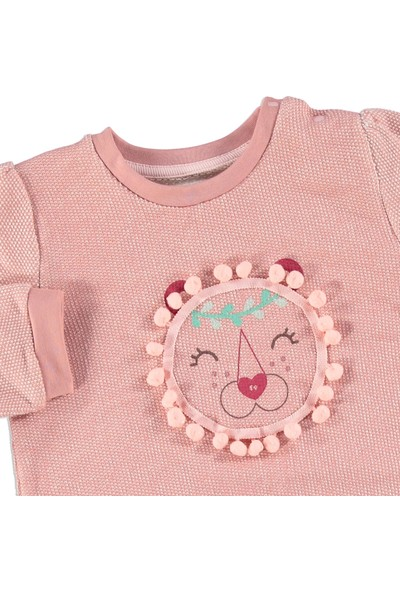 Fisher-Price Kız Bebek Sewimli Pompomlar Sweatshirt