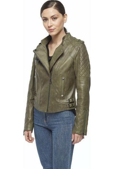 Deriza Antik Kadın Deri Ceket