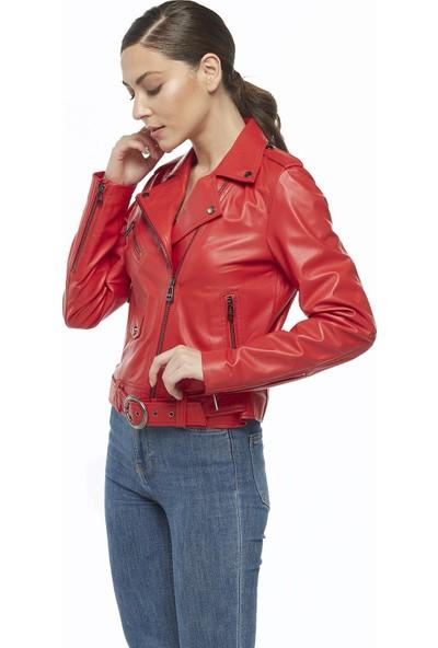 Deriza Anita Spor Kadın Deri Ceket