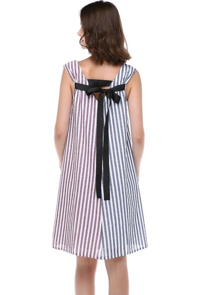 Cream&Rouge Kadın 18Y368 Elbise Çift Renkli
