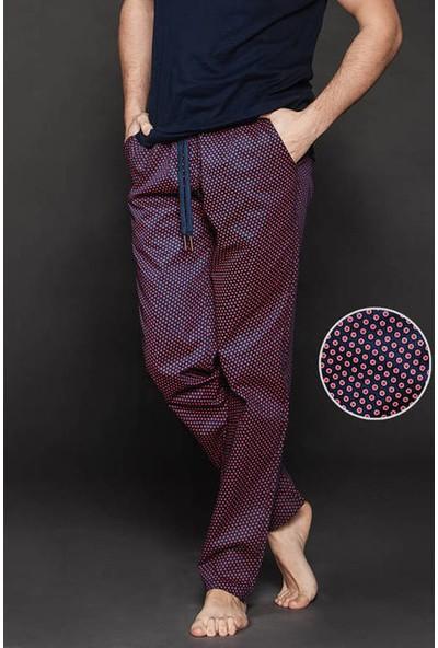 Ten Bordo Edora Puantiye Desenli Pijama Altı 8009-B07