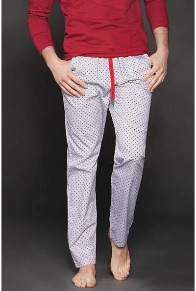 Ten Gri Edora Puantiye Desenli Pijama Altı 8014-G03