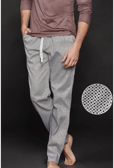 Ten Kahverengi Renkli Puantiye Desenli Pijama Altı 8008-K05