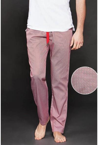 Ten Kırmızı Edora Pötikare Desenli Pijama Altı 8005-K11