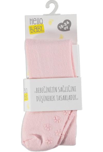Hellobaby Bebek Düz Kaydırmaz Tabanlı Külotlu Çorap