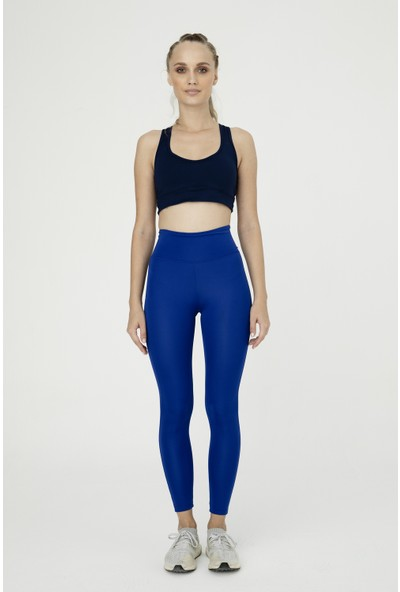 Bellis Activewear Hıgh Waıst Push Up Tayt(Indıgo)