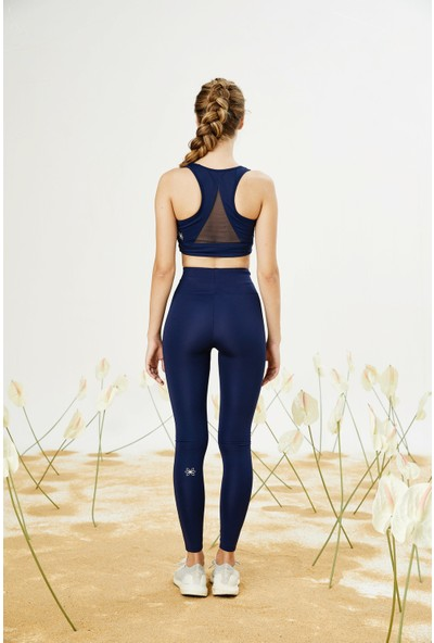 Bellis Activewear Hıgh Waıst Push Up Tayt(Lacıvert)
