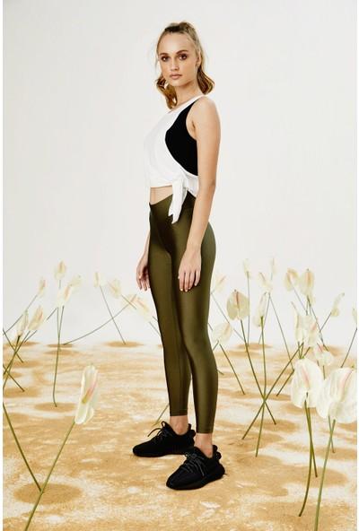 Bellis Activewear Shıny Lycra Tayt(Hakı)