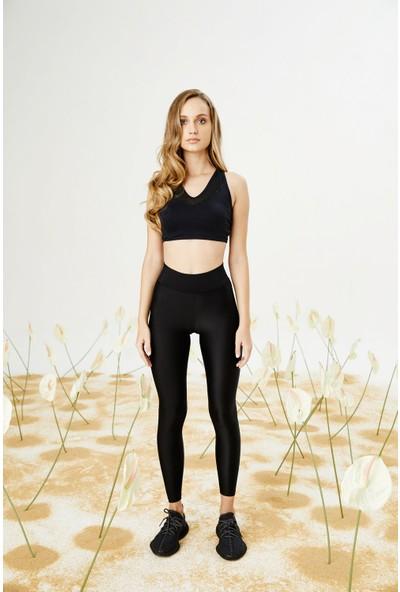 Bellis Activewear Shıny Lycra Tayt(Sıyah)