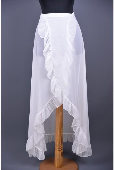 Pembe Deniz Uzun Beyaz Etek Pareo